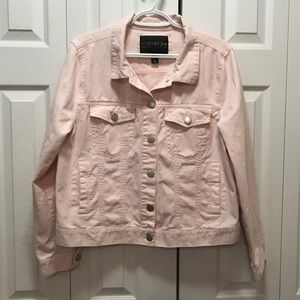 Forever 21 Plus Pale Pink Jean Jacket